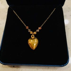 Gold Heart 10k Necklace MADE IN ITALY